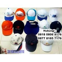 Topi Promosi dengan Bordir atau Sablon Logo di tan