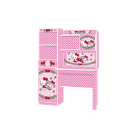 Meja Belajar Anak Karakter Hello Kitty Little Miss Huigh SD KT 9011 LMH