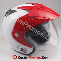 Helm Double Visor Topi Half Face