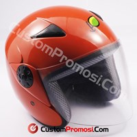 Helm Single Visor Tanpa Topi Half Face