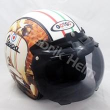 Helm Retro Kulit Kaca Model Bogo Bisa Helm Custom