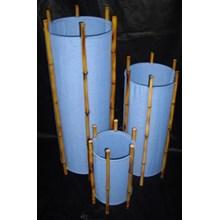 Lamp Chinoise Bamboo Blue