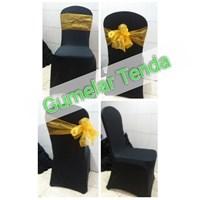 Jual Sarung kursi dengan pita organdi