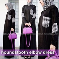 Jual Houndstooth Elbow Dress