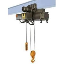 MITSUBISHI ELECTRIC WIRE ROPE HOIST 1 TON TYPE R-1-HM3 WITH ELECTRIC TROLLEY