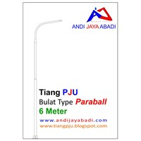 Tiang PJU Bulat Type Paraball 6 meter