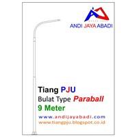 Jual Tiang PJU Bulat Type Paraball 9 meter - Tiang Besi