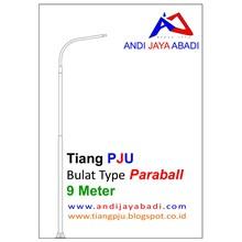 Tiang PJU Bulat Type Paraball 9 meter - Tiang Besi