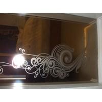 Jual Grafir (Sandblast) Pada Cermin Brown