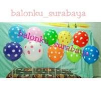 Balon Latex Polkadot Warna Campur