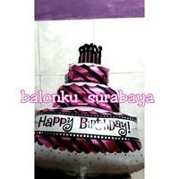 Jual Balon Foil Cake Happy Birthday Atau  Balon Foil Kue Ulang Tahun