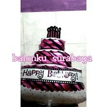 Balon Foil Cake Happy Birthday Atau  Balon Foil Kue Ulang Tahun