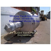 Jual Mixing Tank For Glue Cap. 10 M3 Exp-Proof Motor 15 Hp