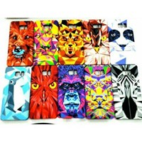 Jual Luxo Hardcase Animals Face Abstrak For Iphone 5S & Sam. Note 5