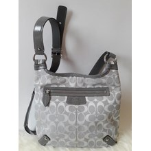 SOLD! Tas Coach Logo C Monogram Crossbody in Grey
