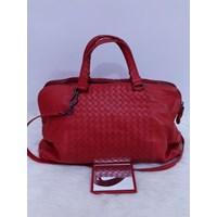 Bottega Veneta Two Compartments Hobo in Red