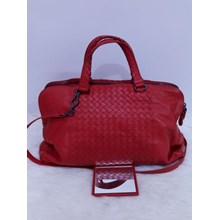 Bottega Veneta Two Compartments Hobo in Red