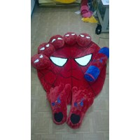 Karpet Set Karakter Motif Spiderman