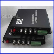 Fiber Optik Analog CCTV Media Converter 4 channel