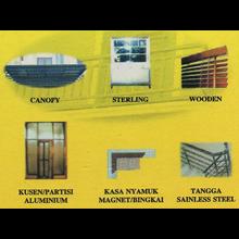 Canopy - Stelling - Kasa Nyamuk - Partisi Aluminium