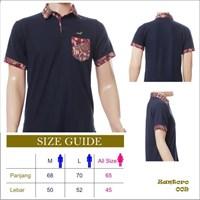 Baju Kaos Polo Kombinasi Batik Modern