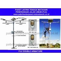 LAMPU PENERANGAN JALAN CT PJU 2 X 80 W  DOUBLE ARMATURE