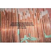 Jual Aksesoris Listrik Grounding Stick Copper Rod Tembaga Batang 1 Inchi