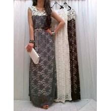 Busana Baju Muslim Gamis Dress 7665 Maxi Brukat