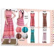 Busana Baju Muslim Gamis Dress 94362 Maxi Sifon