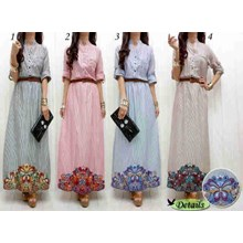 Busana Baju Muslim Gamis Dress 290949 Maxi