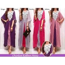 Busana Baju Muslim Gamis Dress Maxi Chintya Kaftan