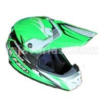 Jual AHRS Helm Motocross Cargloss Flo Green