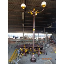 Tiang Lampu Taman Decorative Bougenvile