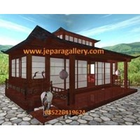 Jual Gazebo Kayu Model Japan