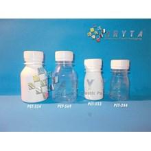 Botol Plastik Vitalong 30ml 100ml bening dan putih susu