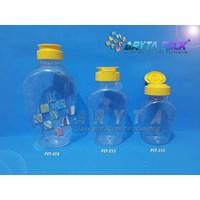 Jual Botol Plastik PET Madu TJ 100ml 200ml 400ml Tutup Fliptop