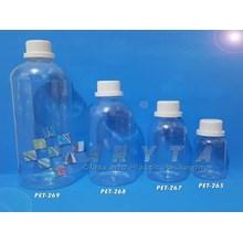 Botol Plastik PET Labor 100ml 250ml 500ml 1 Liter Tutup Segel