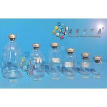 PNC066. Botol kaca bening 100ml injeksi tutup alum