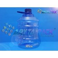 Jual PET676. Galon plastik biru PET 2 liter tutup ulir segel