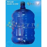 Jual PET648. Galon plastik pet 18 liter biru tutup dop
