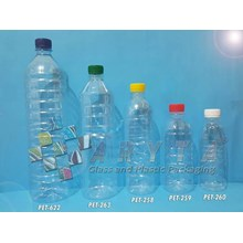 PET260. Botol plastik PET 300ml aqua tutup segel