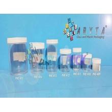 PVC412. Botol plastik PVC 50ml pot plastik
