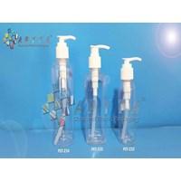 PET234. Botol plastik PET 250ml Joni tutup pump