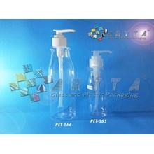 PET565. Botol plastik PET amos 100ml  tutup pump