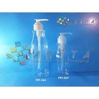 PET566. Botol plastik PET amos 250ml tutup pump