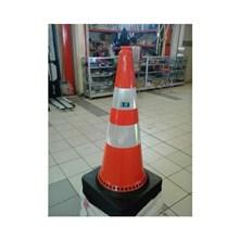 Rubber Cone Black 75 cm