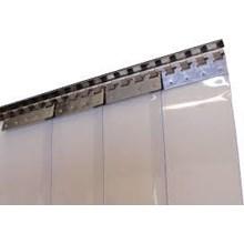 Tirai Plastik  PVC Strip Padang Blue Clear