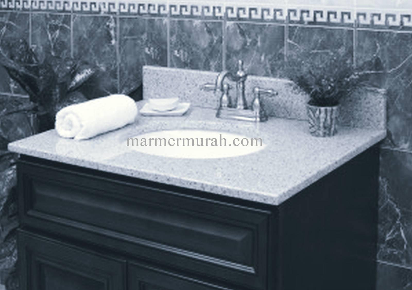 Jual meja granit granit meja kitchen set type star white for Harga granit untuk kitchen set