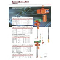 Hoists Nitchi - Electric Chain Hoist Nitchi Series EC4..Chain Hoist Nitchi series EC4