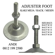 Adjuster Foot  Kaki Meja  Kaki Rack  Kaki Mesin Ukuran M10